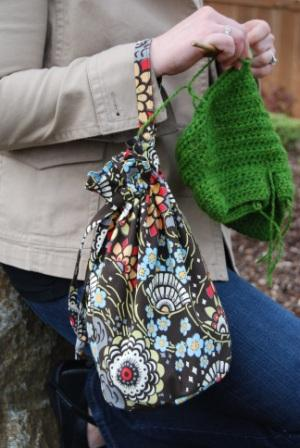 The knit amp go girl project bag makes knitting or crocheting on the go